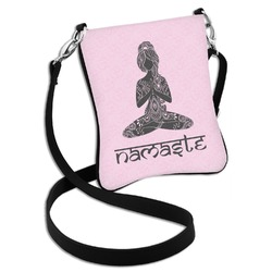 Lotus Pose Cross Body Bag - 2 Sizes (Personalized)