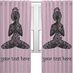 Lotus Pose Curtains (2 Panels Per Set) (Personalized)