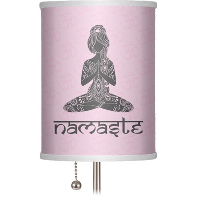 "Lotus Pose 7"" Drum Lamp Shade (Personalized)"