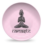 Lotus Pose Microwave Safe Plastic Plate - Composite Polymer (Personalized)