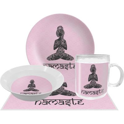 Lotus Pose Dinner Set - 4 Pc (Personalized)