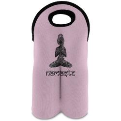 Lotus Pose Wine Tote Bag (2 Bottles) (Personalized)