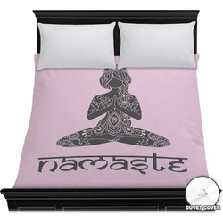 Lotus Pose Duvet Cover (Personalized)