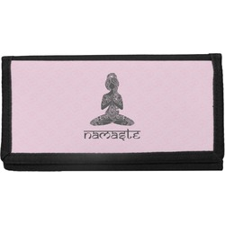 Lotus Pose Canvas Checkbook Cover (Personalized)