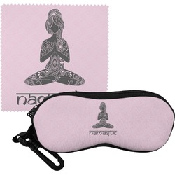 Lotus Pose Eyeglass Case & Cloth (Personalized)