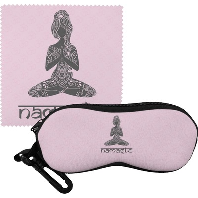 Lotus Pose Eyeglass Case & Cloth (Personalized)