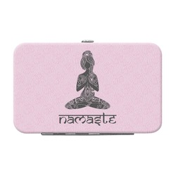Lotus Pose Genuine Leather Small Framed Wallet (Personalized)
