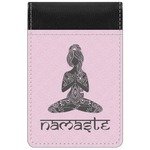 Lotus Pose Genuine Leather Small Memo Pad (Personalized)