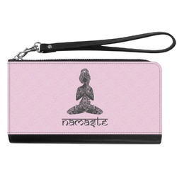 Lotus Pose Genuine Leather Smartphone Wrist Wallet (Personalized)