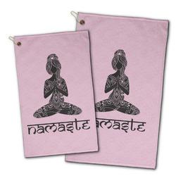 Lotus Pose Golf Towel - Full Print