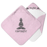 Lotus Pose Hooded Baby Towel (Personalized)
