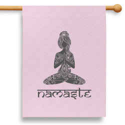 """Lotus Pose 28"""" House Flag - Double Sided"""