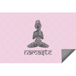 Lotus Pose Indoor / Outdoor Rug (Personalized)