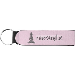 Lotus Pose Neoprene Keychain Fob (Personalized)