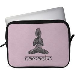 "Lotus Pose Laptop Sleeve / Case - 15"" (Personalized)"