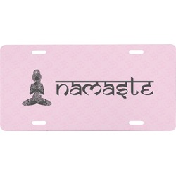Lotus Pose Front License Plate (Personalized)