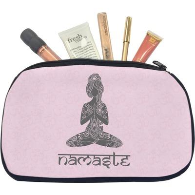 Lotus Pose Makeup / Cosmetic Bag - Medium (Personalized)