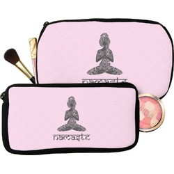 Lotus Pose Makeup / Cosmetic Bag (Personalized)