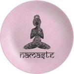 "Lotus Pose Melamine Plate - 8"" (Personalized)"