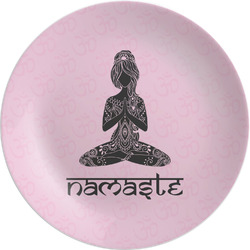 "Lotus Pose Melamine Plate - 8"" (Personalized)"