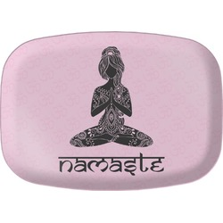 Lotus Pose Melamine Platter (Personalized)
