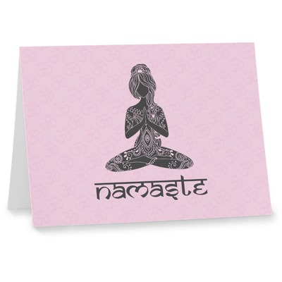 Lotus Pose Note cards (Personalized)