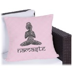 Lotus Pose Outdoor Pillow (Personalized)