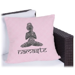 """Lotus Pose Outdoor Pillow - 18"""" (Personalized)"""