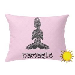 Lotus Pose Outdoor Throw Pillow (Rectangular) (Personalized)