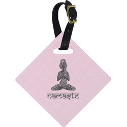 Lotus Pose Diamond Luggage Tag (Personalized)