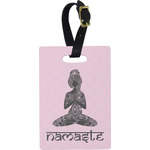 Lotus Pose Rectangular Luggage Tag (Personalized)