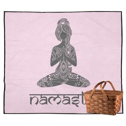 Lotus Pose Outdoor Picnic Blanket (Personalized)