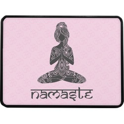 Lotus Pose Rectangular Trailer Hitch Cover (Personalized)