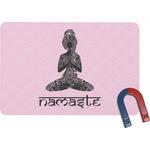 Lotus Pose Rectangular Fridge Magnet (Personalized)