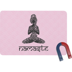 Lotus Pose Rectangular Fridge Magnet (Personalized)