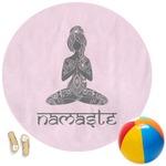 Lotus Pose Round Beach Towel (Personalized)