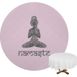 Lotus Pose Round Tablecloth (Personalized)