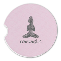 Lotus Pose Sandstone Car Coasters (Personalized)