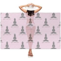 Lotus Pose Sheer Sarong (Personalized)