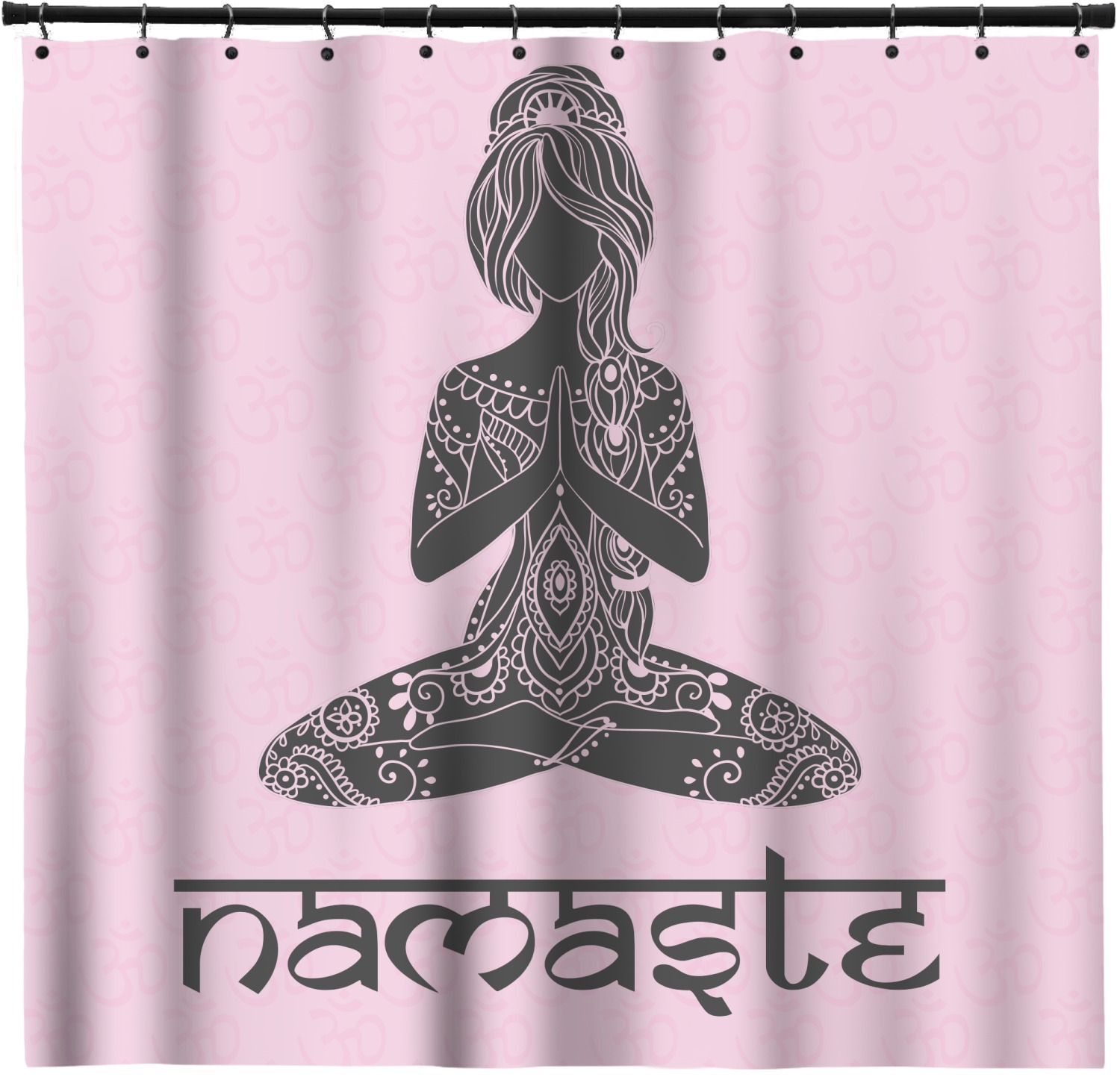 Lotus Pose Shower Curtain Custom Width Height Personalized Youcustomizeit