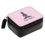Lotus Pose Small Leatherette Travel Pill Case (Personalized)