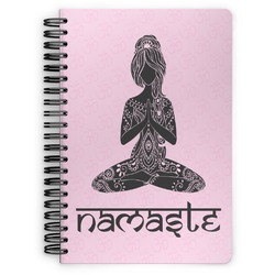 Lotus Pose Spiral Bound Notebook (Personalized)