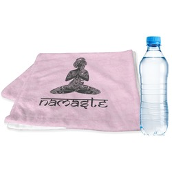 Lotus Pose Sports & Fitness Towel (Personalized)