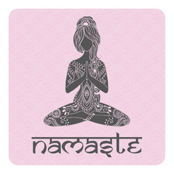 Lotus Pose Square Decal - Custom Size (Personalized)