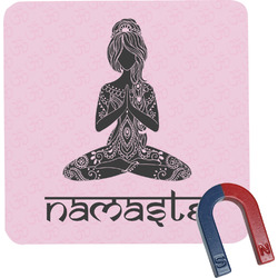 Lotus Pose Square Fridge Magnet (Personalized)