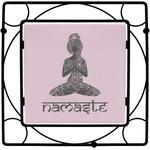 Lotus Pose Square Trivet (Personalized)