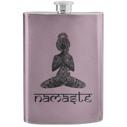 Lotus Pose Stainless Steel Flask (Personalized)