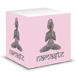 Lotus Pose Sticky Note Cube (Personalized)