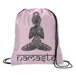 Lotus Pose Drawstring Backpack (Personalized)
