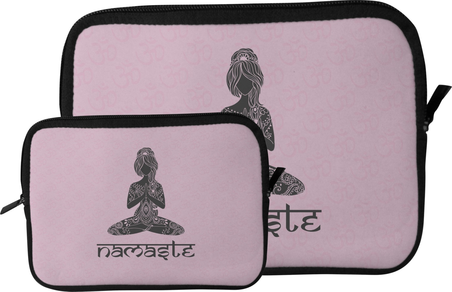 Lotus pose tablet case sleeve large personalized for Table th size